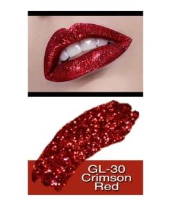 Crimson Red Glitter Lip